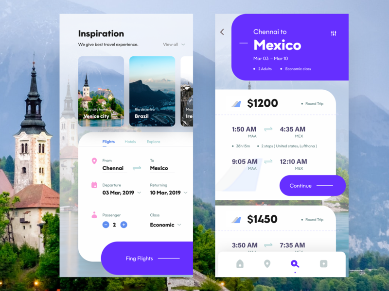 flight app screens return chennai flight booking ps flicker nice100 dribbble inspiration traveling mexico flight app ux branding vector typography design mobile ios app sudhan