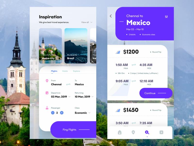 flight app screens return chennai flight booking ps flicker nice100 dribbble inspiration traveling mexico flight app ux branding vector typography design mobile ios app sudhan