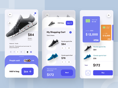 buying options and listing delivery shoe design nice100 dribbbble visa marketing ux add to cart buy pricing nike shoes branding vector typography iphone design mobile sudhan e commerce