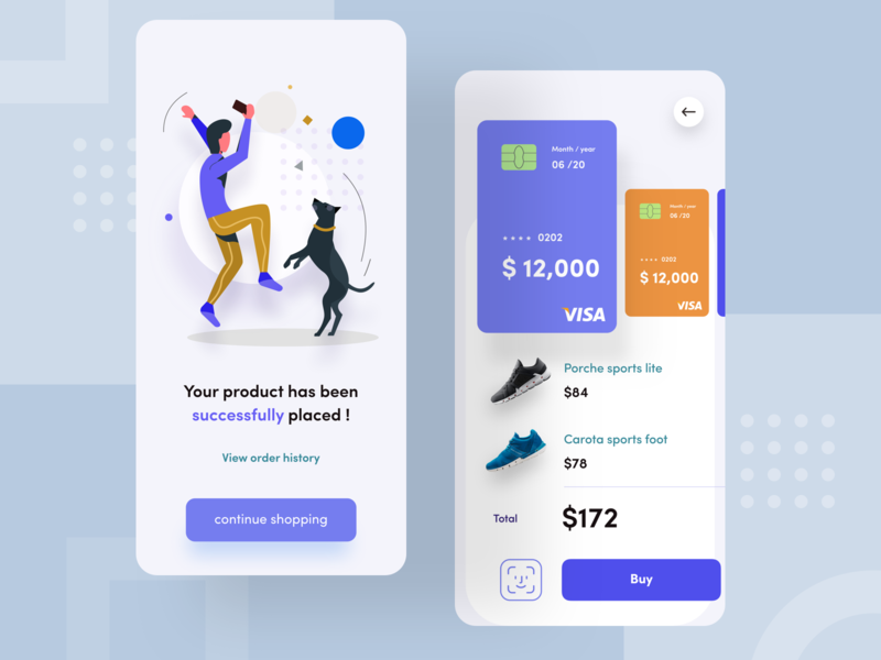 splash screen ! continue animation face id app shoes shopping buy nimbus pricing page dog nike vector typography sudhan branding logo design mobile illustration e commerce