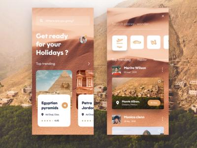 Travel app concept 2