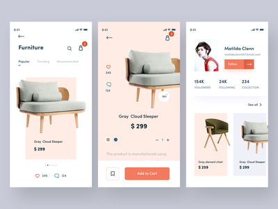 e commerce app follow ui gate dribbble status comment like add bag price online nice100 branding she web typography iphone design sudhan app chainsaw chair