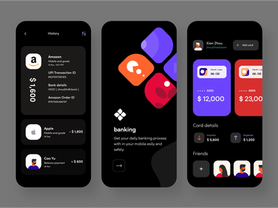 Bank app poster bank card money online xion history price sudhan branding she ios typography ps iphone web design mobile illustration banking app bank