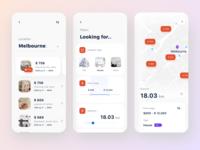 Rental app | search field