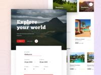Travel web concept