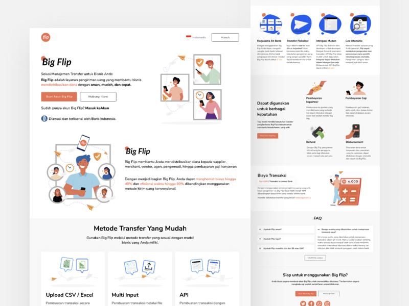Fintech Landing Page fintech landing page design illustrator uidesign vector typography ui ux design illustration