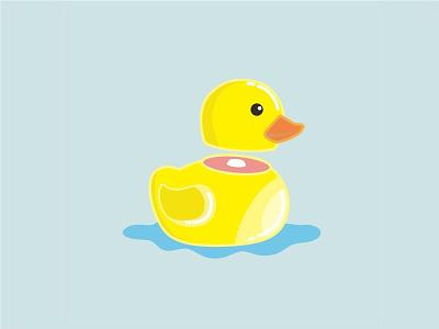Poor Ducky character vector illustration animal duck