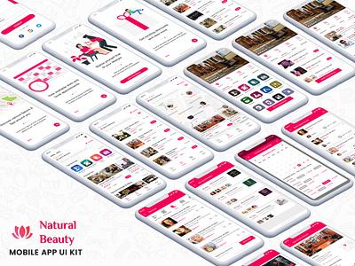 Beauty Services : Spa and Salon App UI Kit salon app design app template mobile ui kit iphone ayurvedic business makeup nail hair beauty centre salon spa beauty services