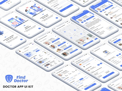 Book Doctor Appointment App Ui Kit ui kit app book appointment doctor app medical doctor clinic doctor appointment