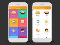Food App Menu Screen Design