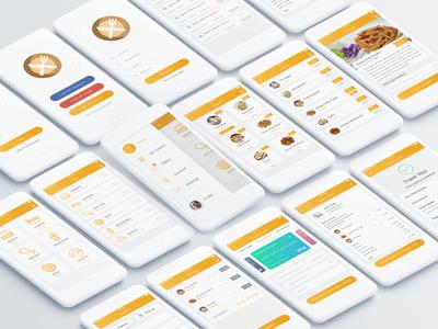 Food Mad App UI Kit modern ui ux material design premium app ui kit latest minimal iphone vector android clean restaurant app food app