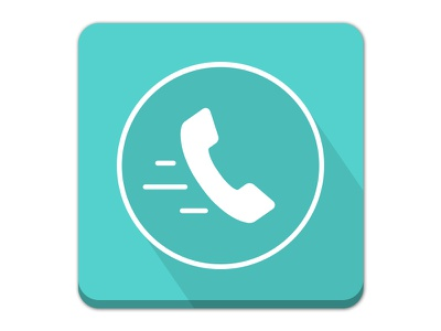 Speed Dial App Icon-Logo Design play store fast modern flat colors material design phone call dialed app icon logo dial speed