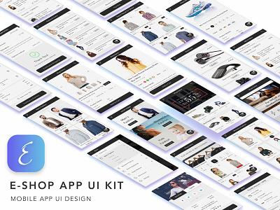 E-Shop App UI Kit order online fashion shop cart buy premium product ui kit app shopping ecommerce