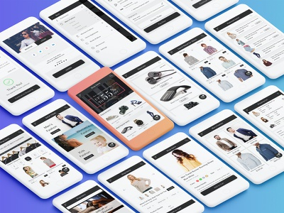 ECommerce Shopping App UI Kit ecommerce freebie flat design material design product premium buy cart shop fashion online order