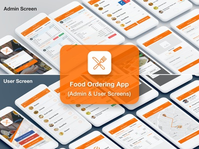 Food & Restaurant Ordering App UI Kit (Admin & User) detail management pickup ordering tracking delivery restaurant app order food admin user