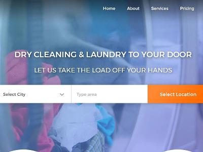 Wash It Laundry Service  Landing Page(Web) wash it laundry graphics design ux ui web design