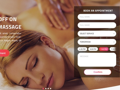 Natural Beauty & Spa Landing Page Design (Web) ui kit app book appointment business ayurvedic skin care makeup hair nail beauty centre salon spa
