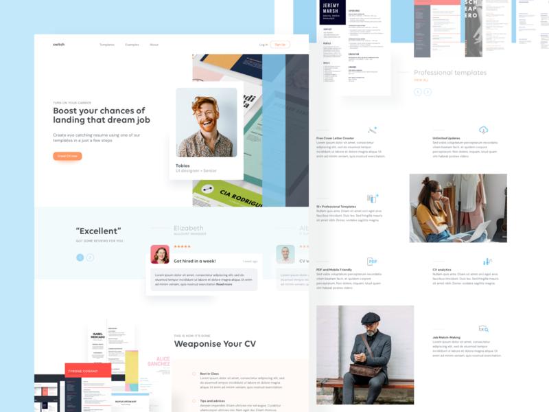 Resume Creator resume resume template cv maker cv creator cv webdesign ux ui