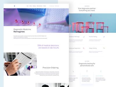 Diagnostics on demand white clean doctor medical webdesign ux ui