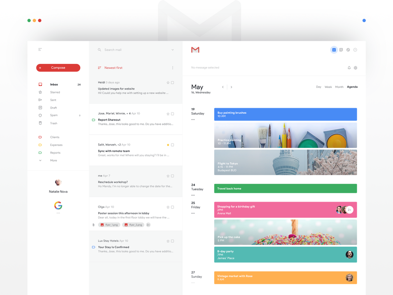 Calendar Gmail.Gmail Calendar Redesign By Bettina Szekany For Luova Studio On Dribbble