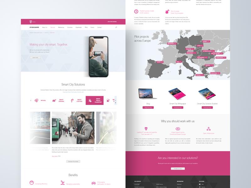 Corporate webdesign map telekom mobile landing webdesign minimal corporate mockup hero ui