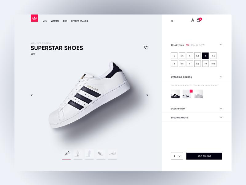 Shoe webshop vans webstore online shopping user friendly shopping bag purchase nike adidas sneakers shoes shoe webdesign webshop minimal ux ui