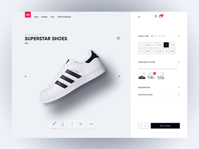 Shoe webshop vans webstore online shopping user friendly shopping bag purchase nike adidas sneakers shoes shoe webdesign webshop minimal ux ui