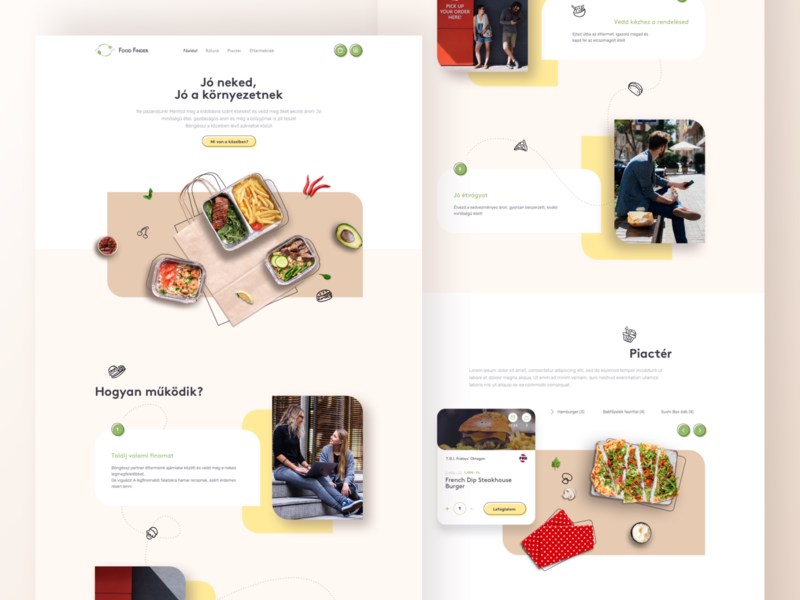 Food Finder web enviroment food order food delivery eco food webdesign ux ui