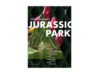 Jurassic Park - Movie Poster jurassic park steven spielberg futura poster challenge movie poster typography poster design minimal illustrator adobe graphic  design design
