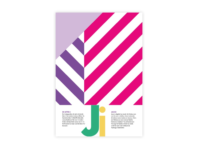 Letters Poster - J - Jacco jacco j letters alphabet futura poster challenge poster a day typography poster design minimal illustrator adobe graphic  design design