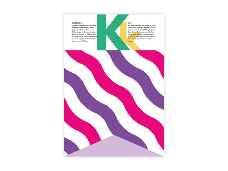 Letters Poster - K - Kay kay k alphabet letters futura poster challenge poster a day typography poster design minimal illustrator adobe graphic  design design