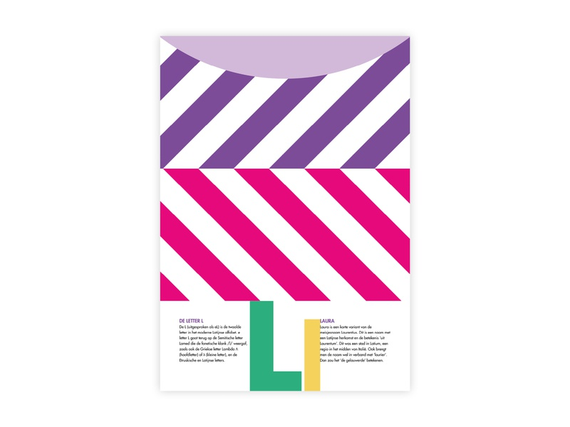 Letters Poster - L - Laura laura l letters alphabet futura poster challenge poster a day typography poster design minimal illustrator adobe graphic  design design