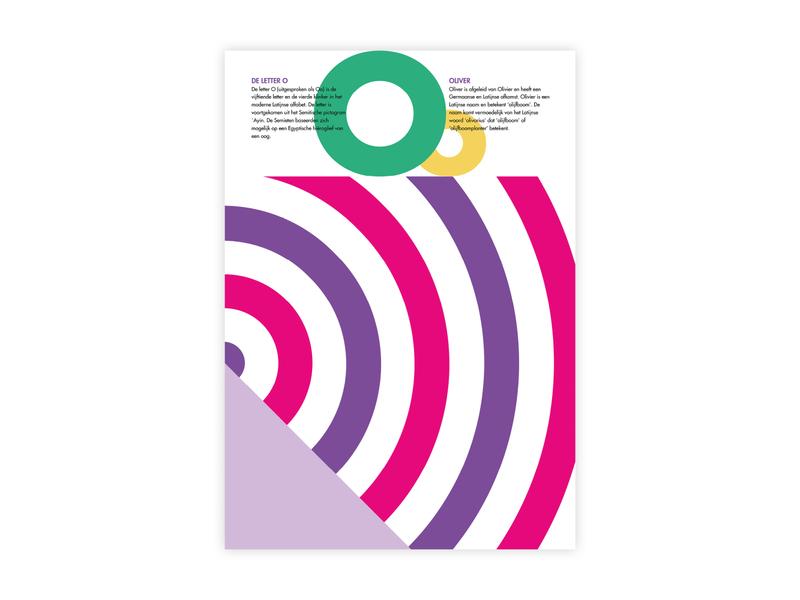 Letters Poster - O - Oliver oliver o alphabet letters futura poster challenge typography poster design minimal illustrator adobe graphic  design design