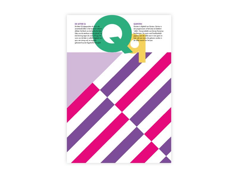 Letters Poster - Q - Quinten q alphabet letters futura poster challenge typography poster design minimal illustrator adobe graphic  design design