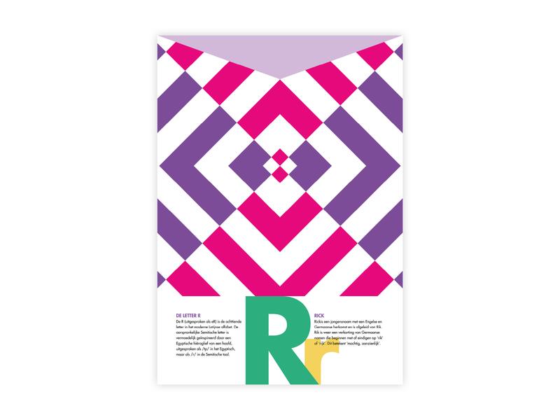 Letters Poster - R - Rick rick r alphabet letters futura poster challenge typography poster design minimal illustrator adobe graphic  design design