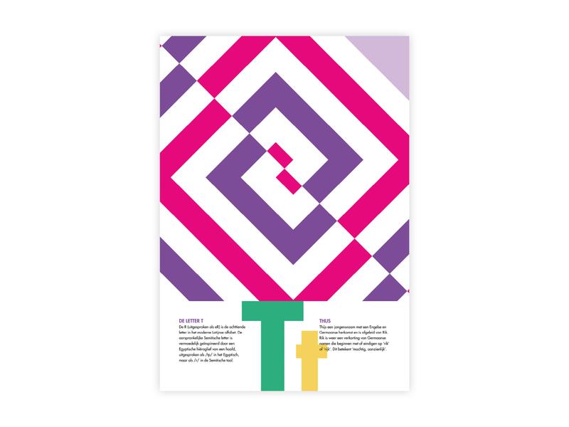 Letters Poster - T - Thijs thijs t letters alphabet futura poster challenge typography poster design minimal illustrator adobe graphic  design design