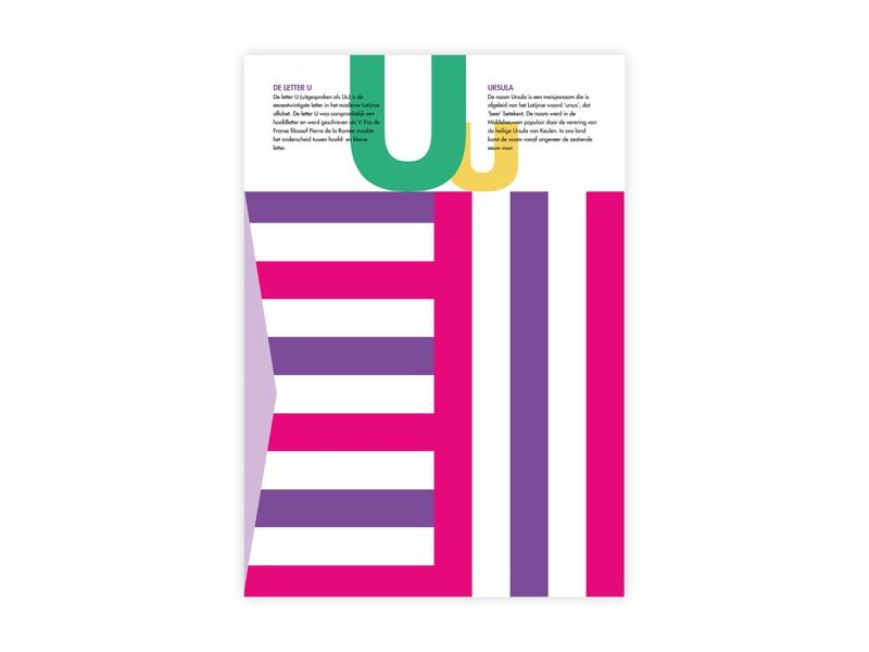 Letters Poster - U - Ursula ursula u alphabet letters futura poster challenge typography poster design minimal illustrator adobe graphic  design design