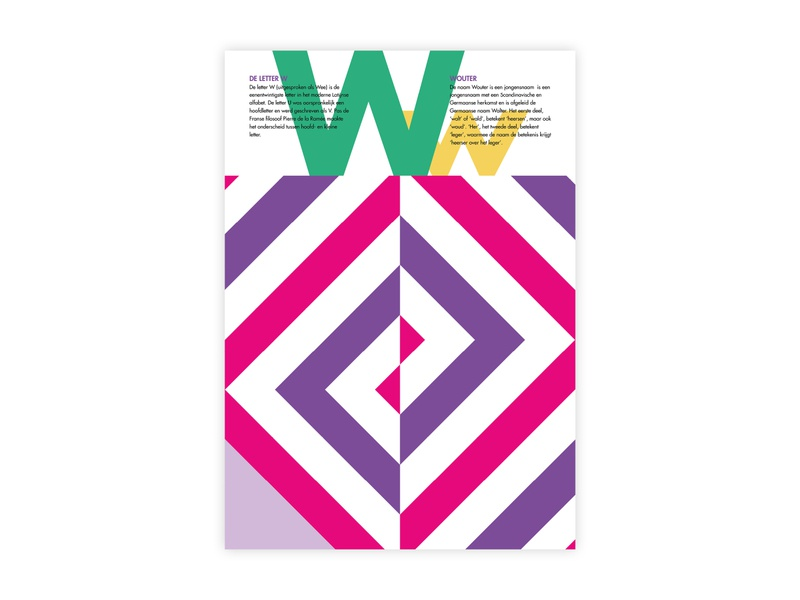 Letters Poster - W - Wouter wouter w alphabet letters futura poster challenge typography poster design minimal illustrator adobe graphic  design design