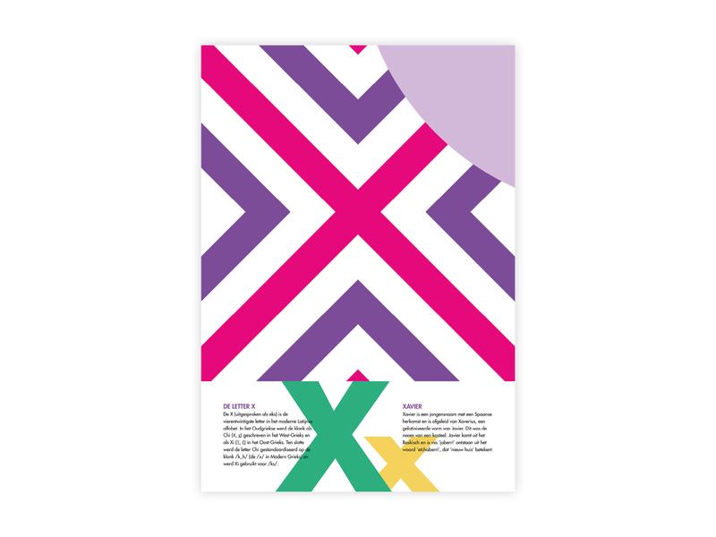 Letters Poster - X - Xavier xavier x alphabet letters futura poster challenge typography poster design minimal illustrator adobe graphic  design design