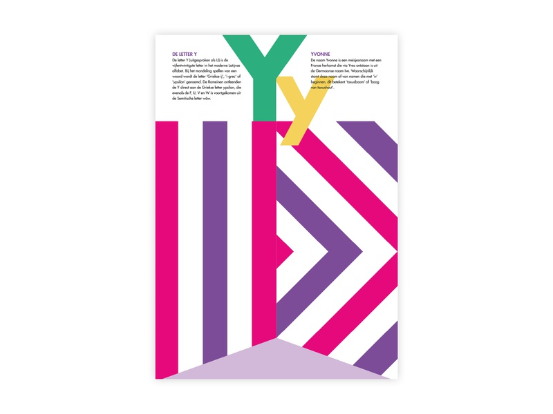 Letters Poster - Y - Yvonne yvonne y alphabet letters futura poster challenge typography poster design minimal illustrator adobe graphic  design design