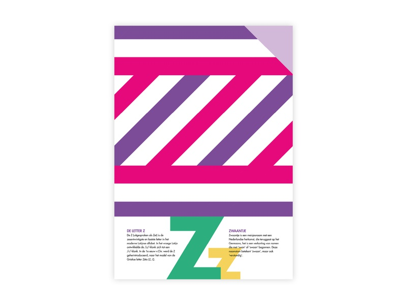 Letters Poster - Z - Zwaantje zwaantje z letters alphabet futura poster challenge typography poster design minimal illustrator adobe graphic  design design