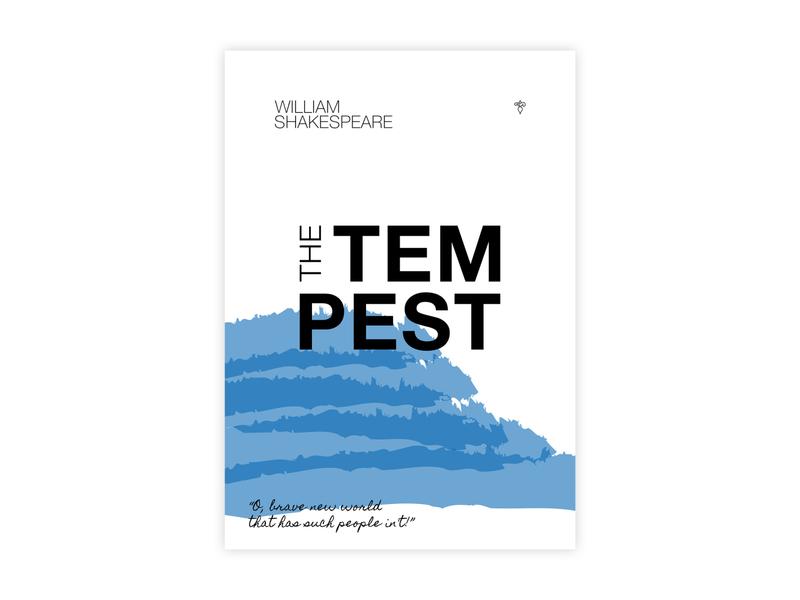 The Tempest  - Poster Design silkscreen print shakespeare helvetica poster challenge typography poster design minimal illustrator adobe graphic  design design