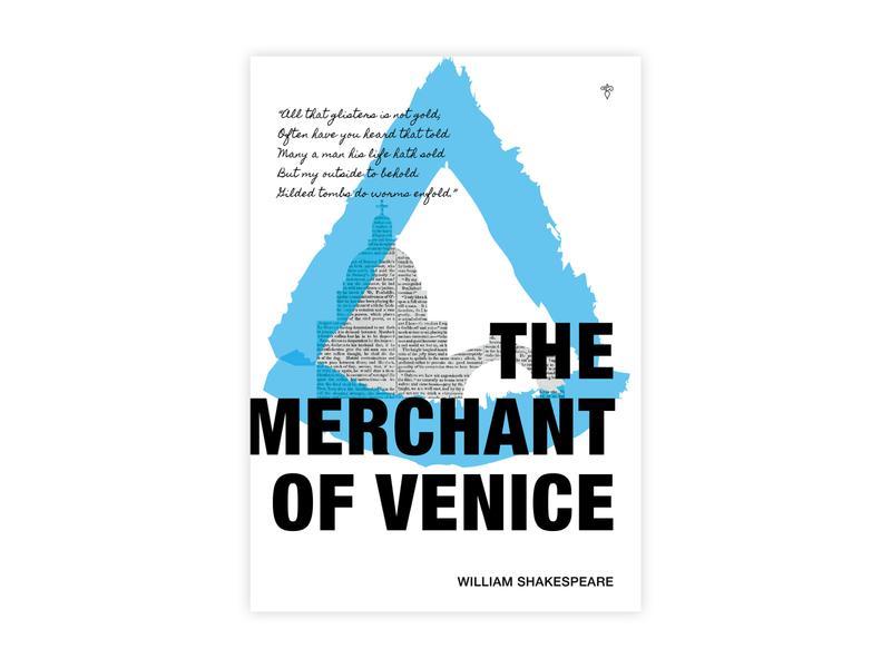 The Merchant of Venice - Poster Design shakespeare the merchant of venice helvetica poster challenge typography poster design minimal illustrator adobe graphic  design design