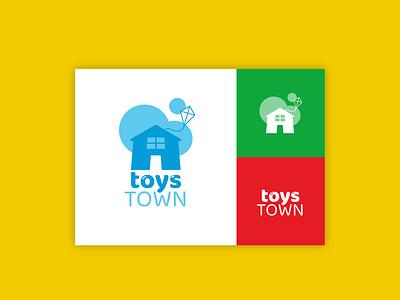 Daily Logo Challenge - Toys Town toys branding daily logo challenge logo design logo graphic  design design