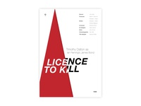 Licence To Kill -Movie poster