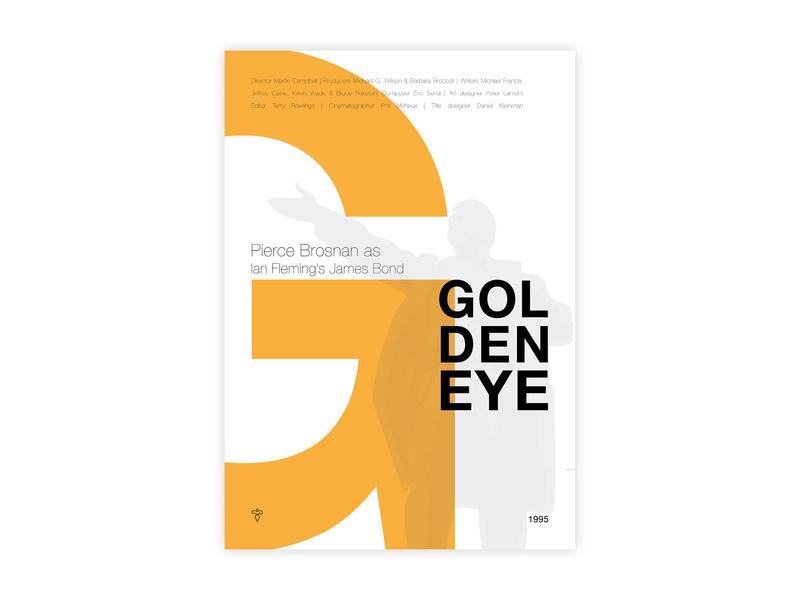 Goldeneye - Movie poster goldeneye james bond ian fleming hitchcock 007 poster challenge typography poster design poster a day movie poster minimal helvetica illustrator adobe graphic  design design