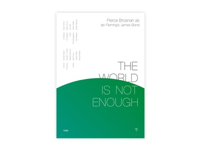The World Is Not Enough - Movie poster