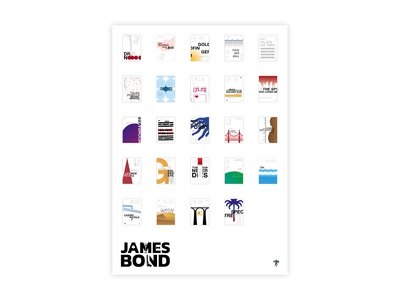 James Bond - All movie posters
