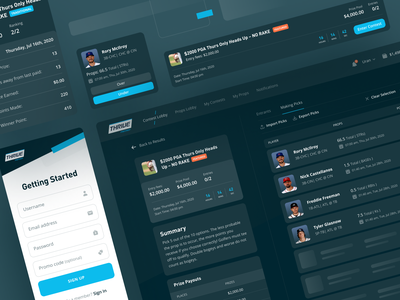 Thrive Fantasy – Esports Platform user interface web web design esports sports entertainment competition interface product toglas platfrom ui ux