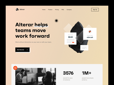 Alterar management tool web promo interface product design timing tasks tool managment ui visual design